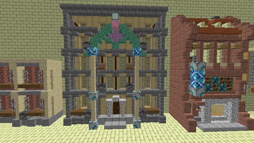 Minecrafterししゃもがマインクラフトで空中都市プコサヴィル下層の街並みを作っていく6