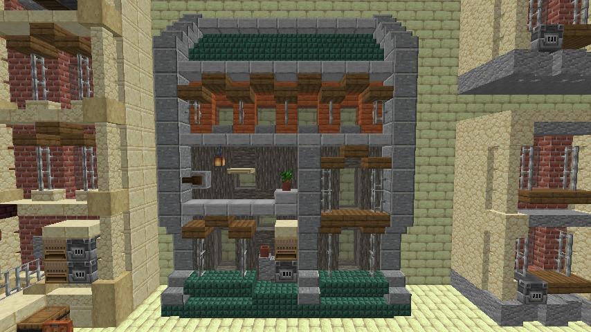 Minecrafterししゃもがマインクラフトで空中都市プコサヴィル下層の街並みを作っていく7