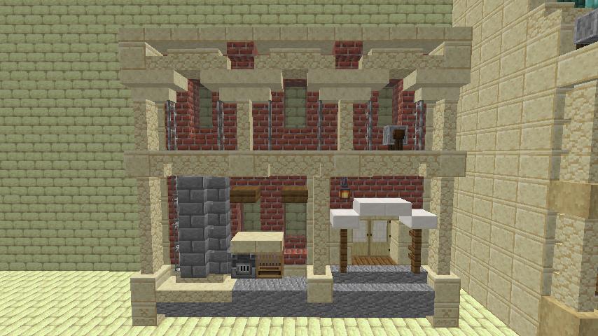 Minecrafterししゃもがマインクラフトで空中都市プコサヴィル下層の街並みを作っていく10