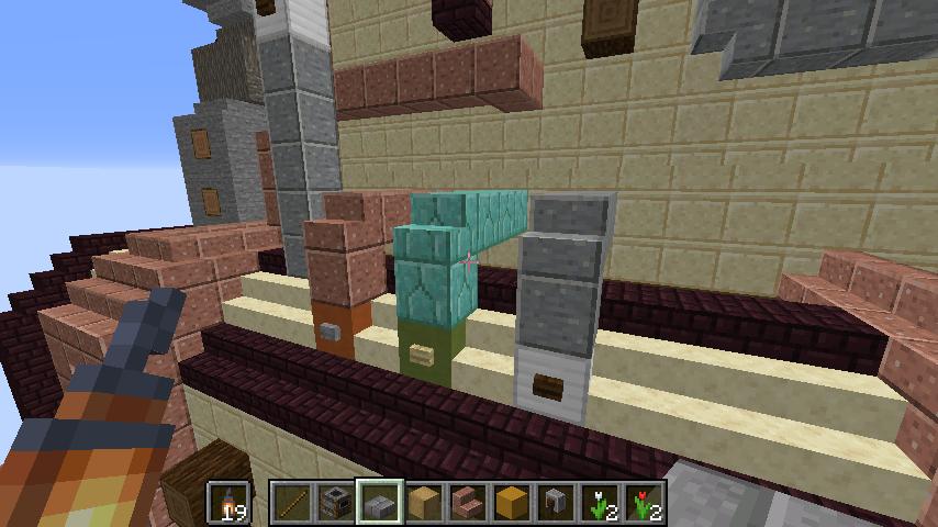 Minecrafterししゃもがマインクラフトで空中都市プコサヴィルをガンガン作っていく6