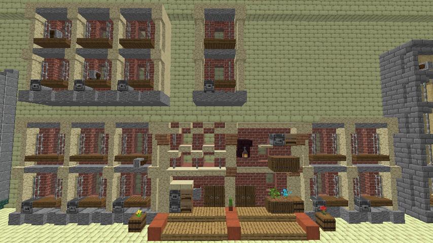 Minecrafterししゃもがマインクラフトで空中都市プコサヴィル下層の街並みを作っていく5
