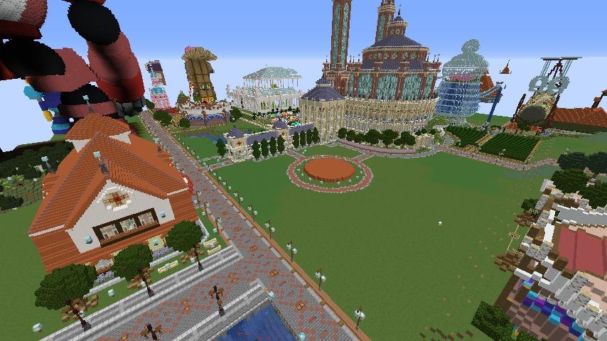 Minecrafterししゃもがマインクラフトでぷっこ村にイギリス風の建築物を建てるよ1