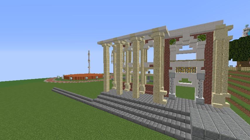 Minecrafterししゃもがマインクラフトでぷっこ村にイギリス風の建築物を建てるよ3