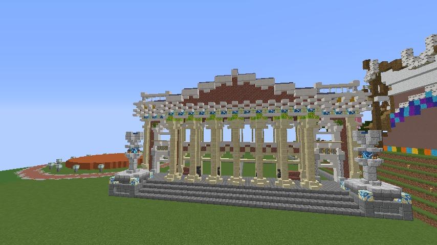 Minecrafterししゃもがマインクラフトでぷっこ村にイギリス風の建築物を建てるよ4
