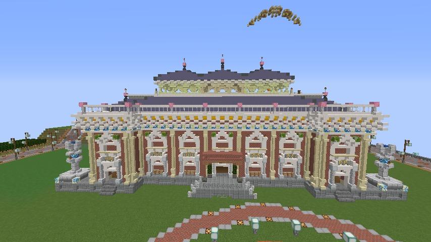 Minecrafterししゃもがマインクラフトでぷっこ村にイギリス風の建築物を建てるよ7