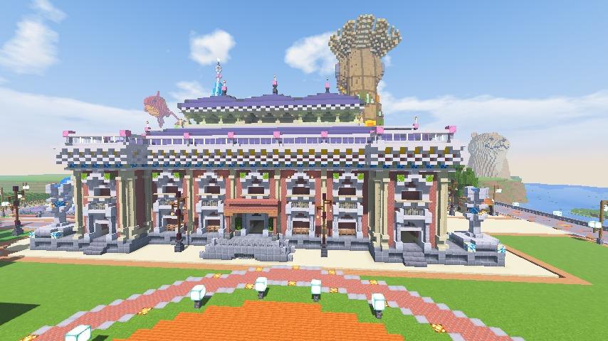 Minecrafterししゃもがマインクラフトでぷっこ村にイギリス風の建築物を建てるよ13