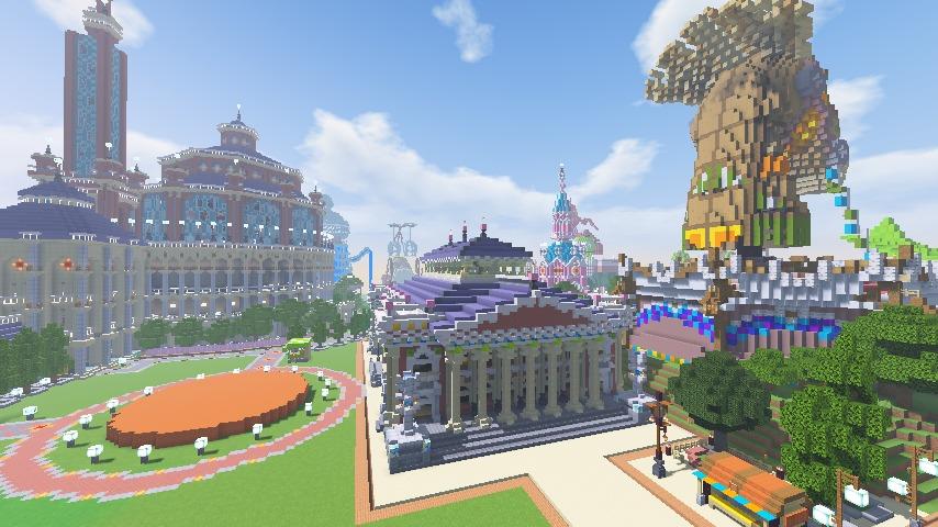 Minecrafterししゃもがマインクラフトでぷっこ村にイギリス風の建築物を建てるよ12