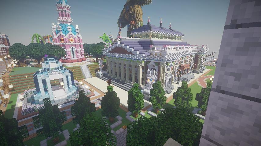 Minecrafterししゃもがマインクラフトでぷっこ村にイギリス風の建築物を建てるよ14