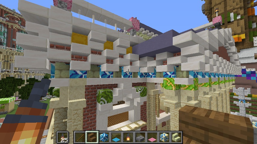 Minecrafterししゃもがマインクラフトでぷっこ村にイギリス風の建築物を建てるよ6