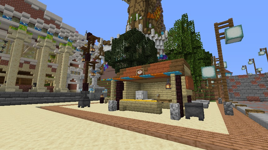 Minecrafterししゃもがマインクラフトでぷっこ村にイギリス風の建築物を建てるよ9