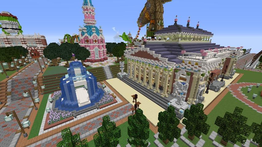Minecrafterししゃもがマインクラフトでぷっこ村にイギリス風の建築物を建てるよ10