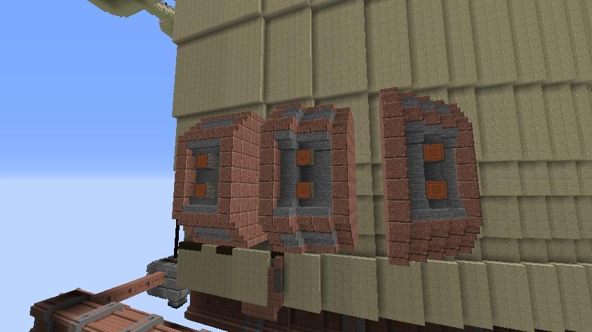 Minecrafterししゃもがマインクラフトで空中都市プコサヴィルの外殻を作る5