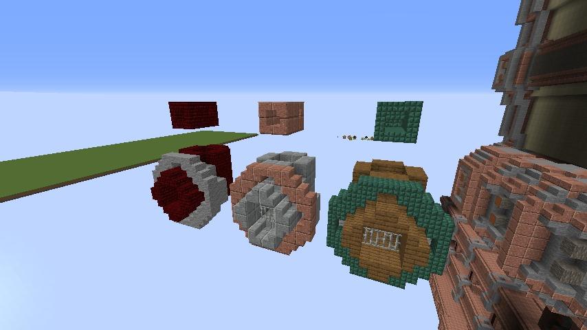 Minecrafterししゃもがマインクラフトで空中都市プコサヴィルの外殻を作る8