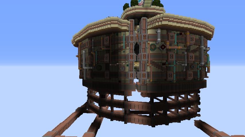 Minecrafterししゃもがマインクラフトで空中都市プコサヴィルの外殻を作る10