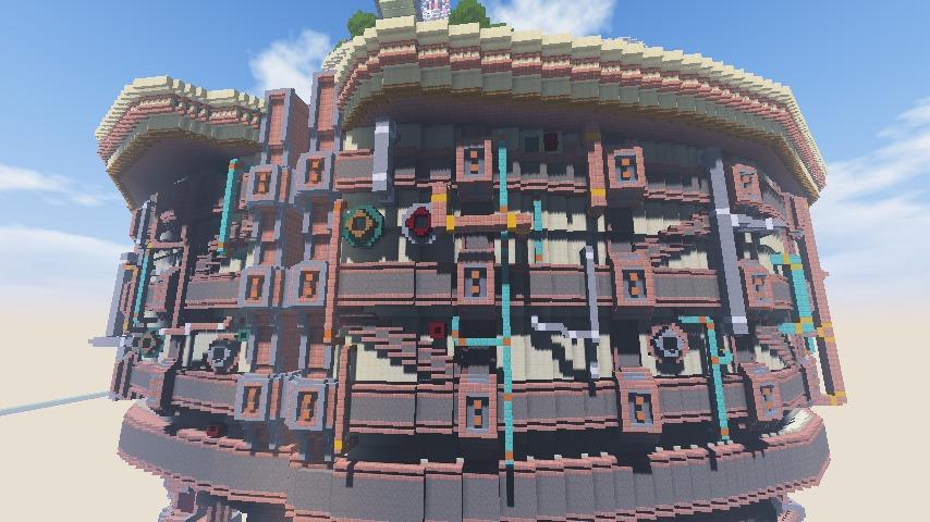 Minecrafterししゃもがマインクラフトで空中都市プコサヴィルの外殻を作る13