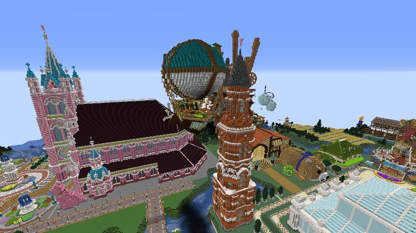 Minecrafterししゃもがマインクラフトで無性に建てたくなった塔7