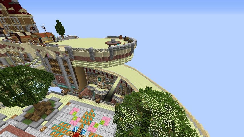 Minecrafterししゃもがマインクラフトでぷっこ村に空中都市プコサヴィルの街並みを作る1