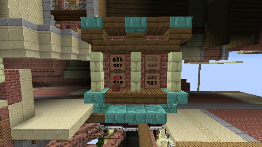 Minecrafterししゃもがマインクラフトでぷっこ村に空中都市プコサヴィルの街並みを作る5