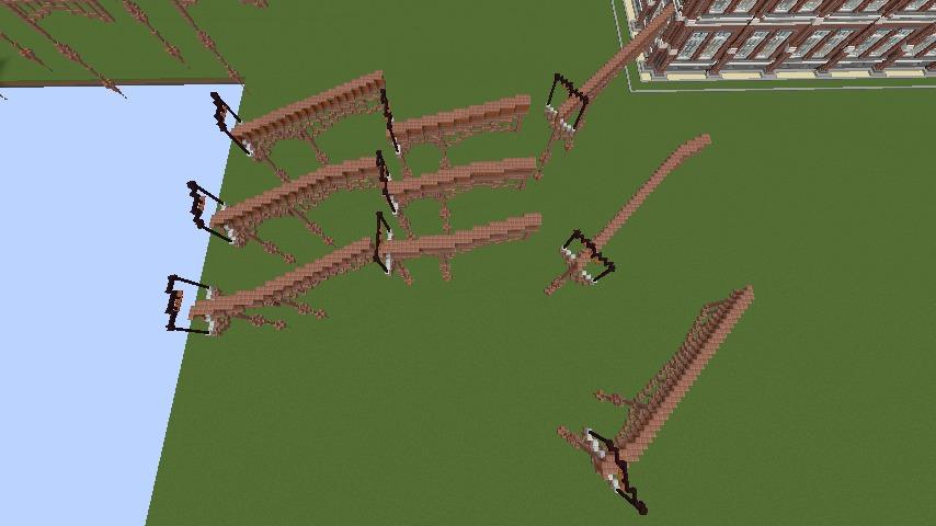 Minecrafterししゃもがマインクラフトでプコサヴィルの線路を作るよ5