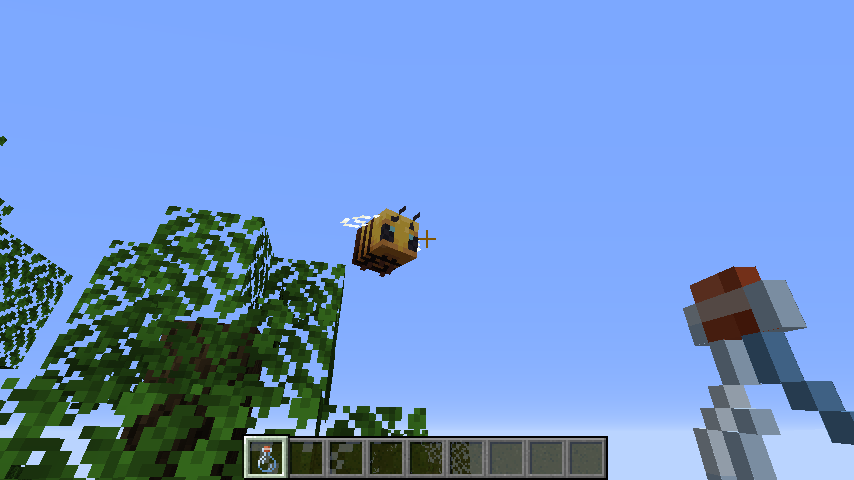 Minecrafterししゃもがマインクラフトで作ったデータパック「Bottled Bee」の紹介をする8