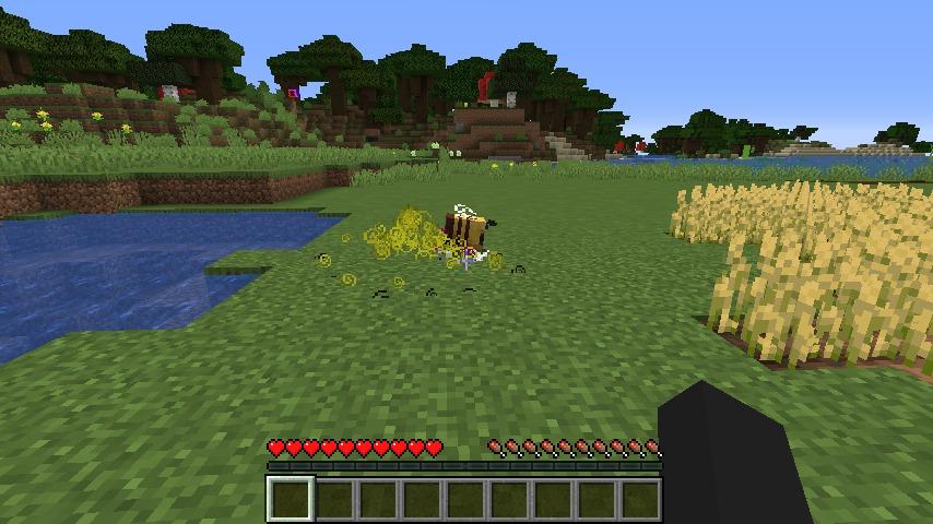 Minecrafterししゃもがマインクラフトで作ったデータパック「Bottled Bee」の紹介をする12