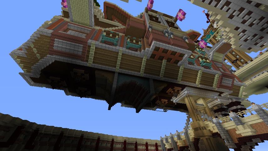 Minecrafterししゃもがマインクラフトでぷっこ村の空中都市プコサヴィルの街並みを作る8