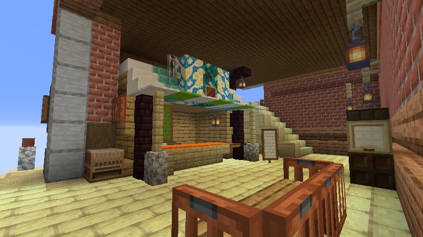 Minecrafterししゃもがマインクラフトでぷっこ村の空中都市プコサヴィルの街並みを作る11