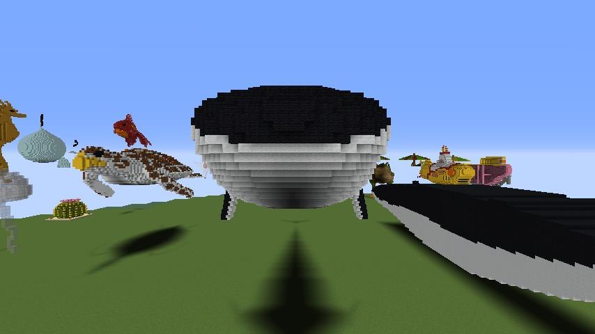 Minecrafterししゃもがマインクラフトでぷっこ村にいるクジラさんを痩せさせる2