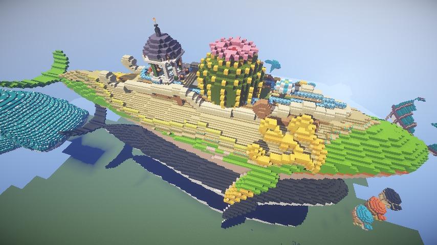Minecrafterししゃもがマインクラフトでぷっこ村の守り神のイニシエクジラを紹介する4