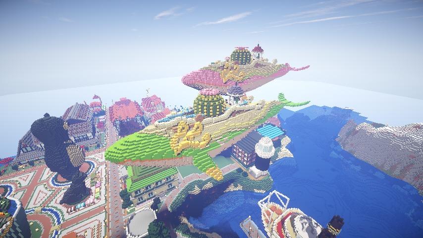 Minecrafterししゃもがマインクラフトでぷっこ村の守り神のイニシエクジラを紹介する3