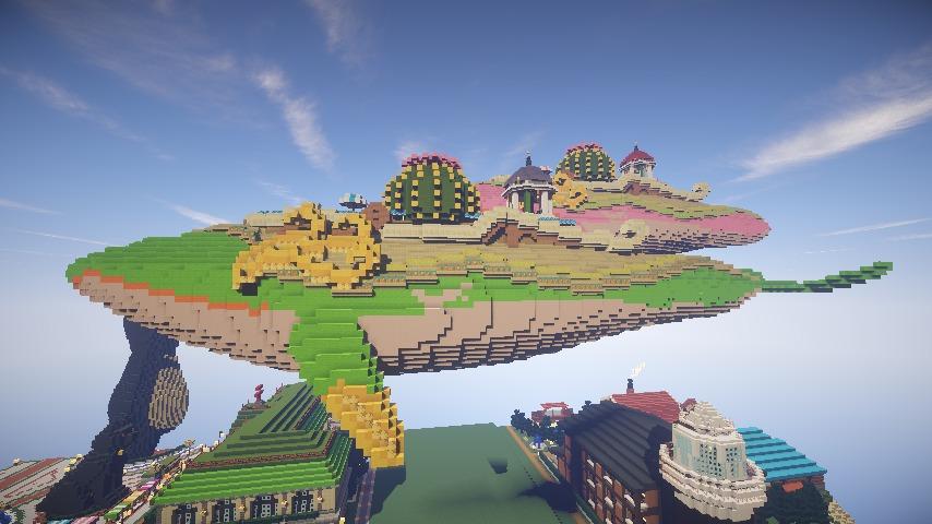 Minecrafterししゃもがマインクラフトでぷっこ村の守り神のイニシエクジラを紹介する1