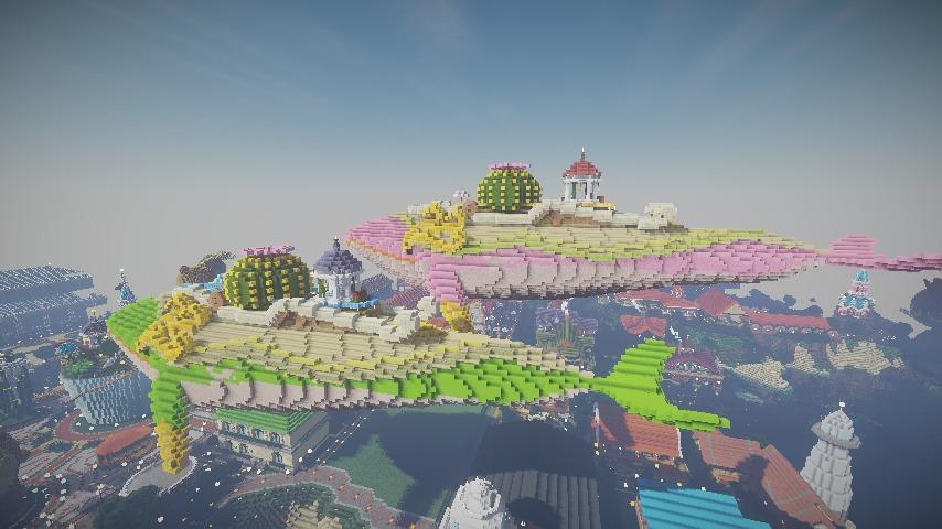 Minecrafterししゃもがマインクラフトでぷっこ村の守り神のイニシエクジラを紹介する5
