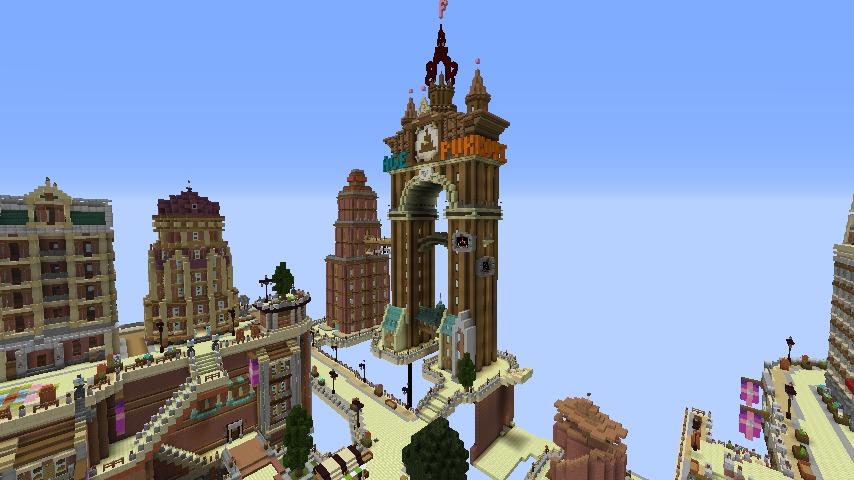 Minecrafterししゃもがマインクラフトでぷっこ村の空中都市を発展させる1