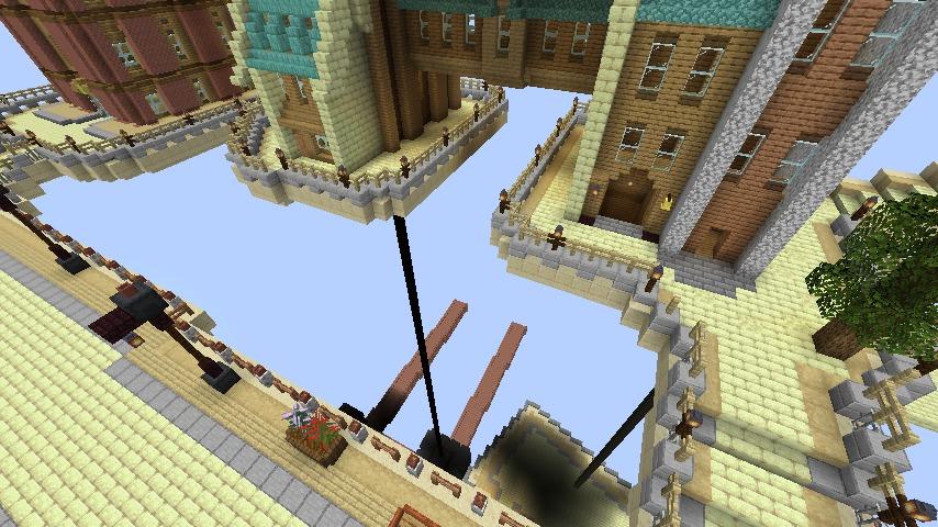 Minecrafterししゃもがマインクラフトでぷっこ村の空中都市を発展させる2