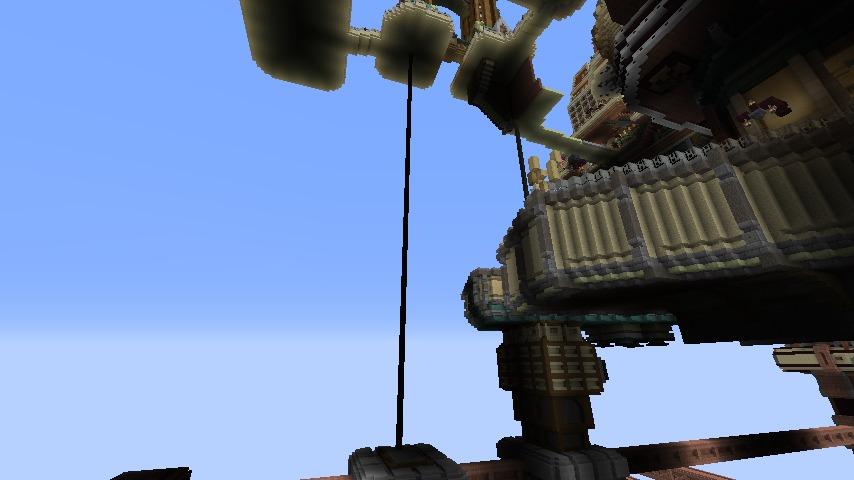 Minecrafterししゃもがマインクラフトでぷっこ村の空中都市を発展させる3