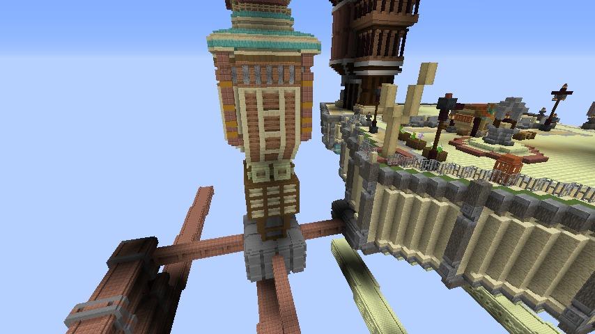Minecrafterししゃもがマインクラフトでぷっこ村の空中都市を発展させる4