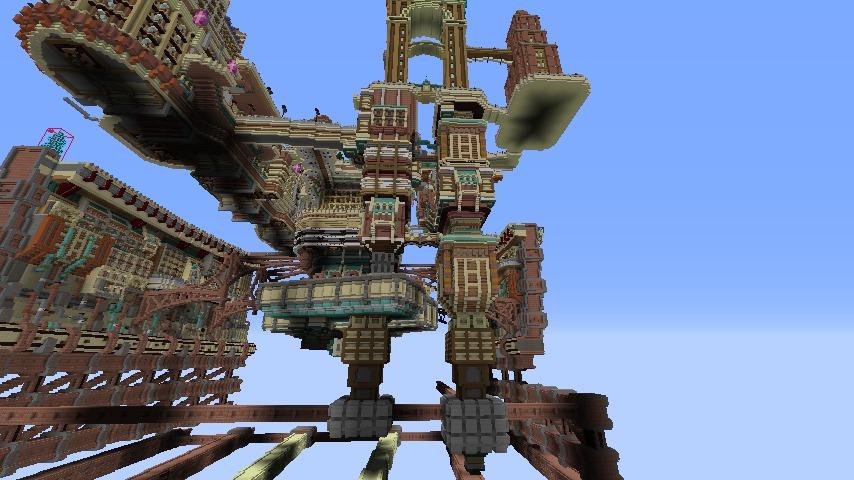 Minecrafterししゃもがマインクラフトでぷっこ村の空中都市を発展させる6