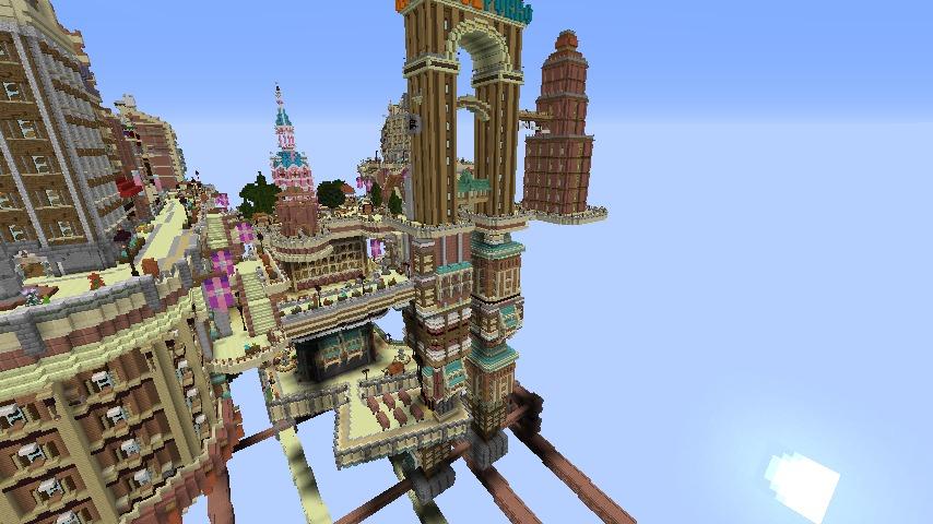 Minecrafterししゃもがマインクラフトでぷっこ村の空中都市を発展させる7