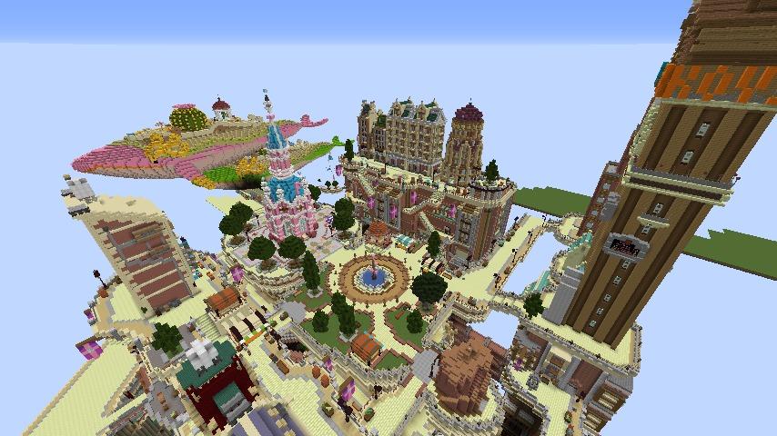 Minecrafterししゃもがマインクラフトでぷっこ村の空中都市を発展させる8