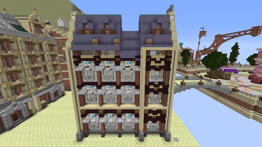 Minecrafterししゃもがマインクラフトでぷっこ村のプコサヴィル東側の続きを作る3