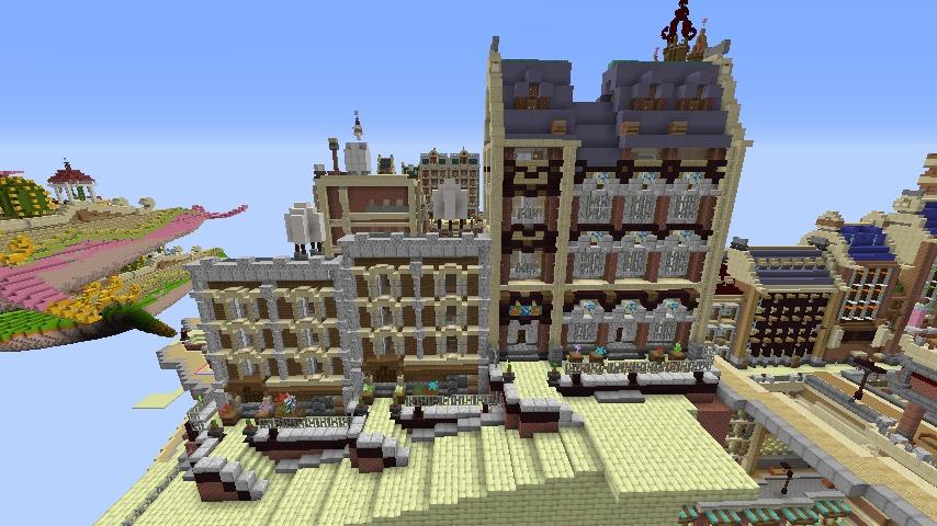 Minecrafterししゃもがマインクラフトでぷっこ村のプコサヴィル東側の続きを作る9