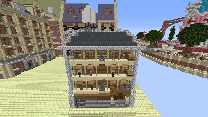 Minecrafterししゃもがマインクラフトでぷっこ村のプコサヴィル東側の続きを作る2