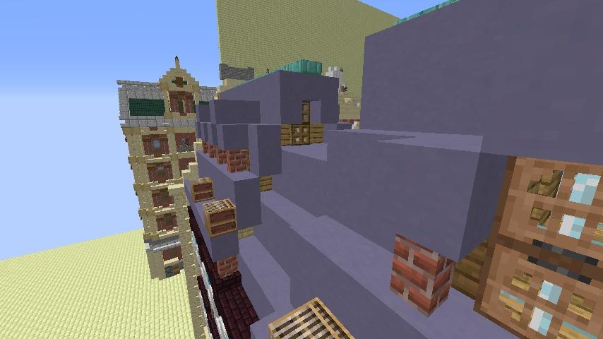 Minecrafterししゃもがマインクラフトでぷっこ村のプコサヴィル東側の続きを作る4