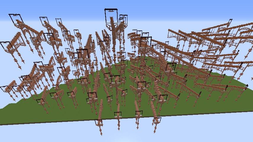Minecrafterししゃもがマインクラフトでプコサヴィルの線路を大量に作るよ2