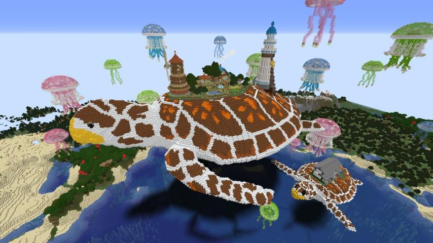 Minecrafterししゃもがマインクラフトでぷっこ村に生息するイエガメの生態を解説する1