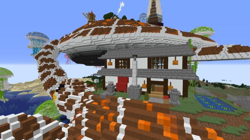 Minecrafterししゃもがマインクラフトでぷっこ村に生息するイエガメの生態を解説する7