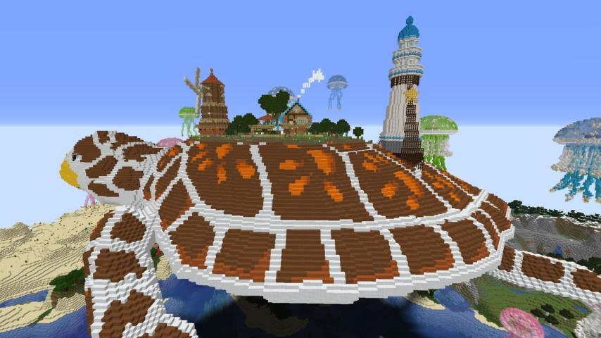 Minecrafterししゃもがマインクラフトでぷっこ村に生息するイエガメの生態を解説する11