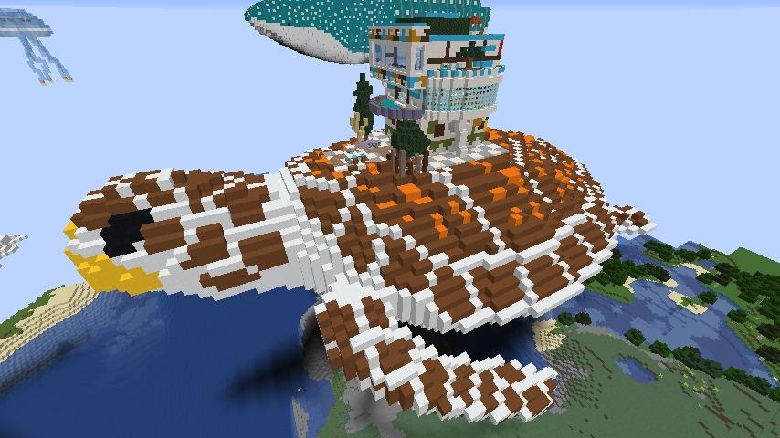 Minecrafterししゃもがマインクラフトでぷっこ村に生息するイエガメの生態を解説する8