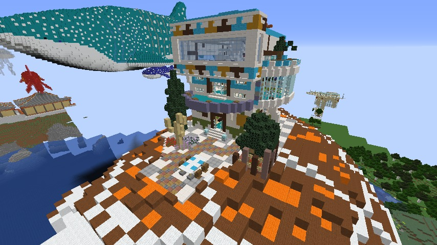 Minecrafterししゃもがマインクラフトでぷっこ村に生息するイエガメの生態を解説する9