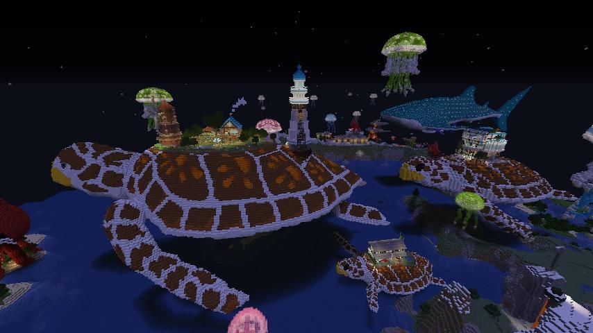 Minecrafterししゃもがマインクラフトでぷっこ村に生息するイエガメの生態を解説する14